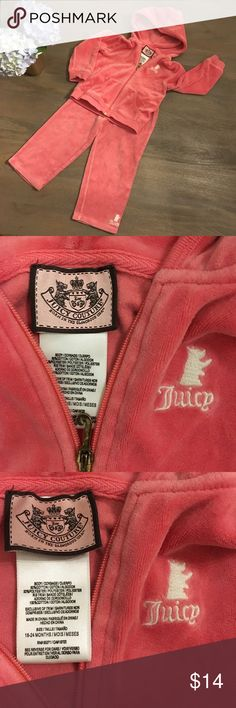 Juicy Couture jumpsuit pink size 18-24 month Juicy Couture jumpsuit pink size 18-24 month Juicy Couture Matching Sets