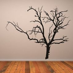 Bare Tree Wall Sticker Halloween Wall Decal Art available in 5 Sizes and 25 Colours X-Small Lemon Yellow: Amazon.co.uk: DIY & Tools