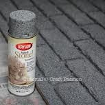 gray stone spray paint...maybe spray the red pavers we have in our backyard instead if buying new ones?