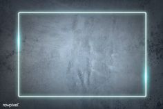 Rectangle blue neon frame on a gray concrete wall vector | premium image by rawpixel.com / manotang Framed Wallpaper, Phone Wallpaper Images, Neon Wallpaper, Brick Wallpaper, Black Background Images, Leaf Background, Paper Background, Page Borders Design, Border Design