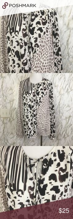 Gorgeous CAbi Animal Print polyester blouse Excellent used condition, used once, size M, No smoking Home 🏡 Tops Blouses