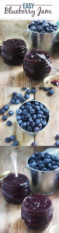 blueberry #jam - homemade jam #recipes