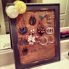 lifelovelarson DIY Jewelry Holder interior love Pinterest