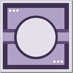 Square card, round design.