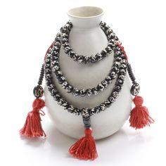 108 Punk Tibetan Buddhist Yak Bone Bracelet Necklace Hand Painted Mantras Prayer Mala Beads Bracelet For Men And Women Jewelry