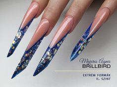 BrillBird Edge Nails, Polygel Nails, Nail Tutorials, Long Nails, Nail Art Designs, Nailart, Make Up, Finger Nails, Beauty