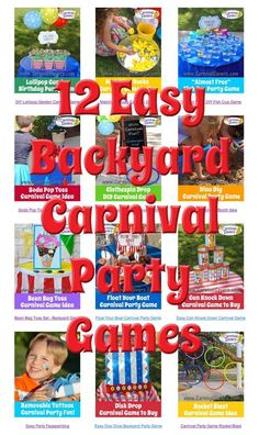 12 Easy Backyard Carnival Party Games