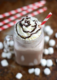 Switch it up and make frozen hot chocolate this winter.