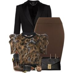 Black & Brown Outfit