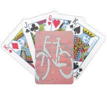 White Bicycle Red Street, Traffic Sign Bicycles Bicycle Playing Cards