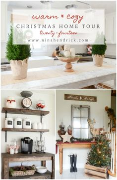 Christmas Home Tour | Rustic and Cozy Christmas Holiday Decor Inspiration from @Nina Hendrick Design Co.
