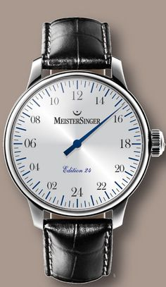 MeisterSinger watches coming to Zionsville in September! Sleek, clean with single hand. Cool.