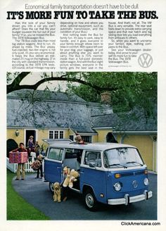 Volkswagen Bus ads (1977)