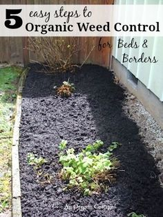5 Easy Steps to Organic Weed Control for Bed and Borders -do this once a season and never think about major weeding for another year!