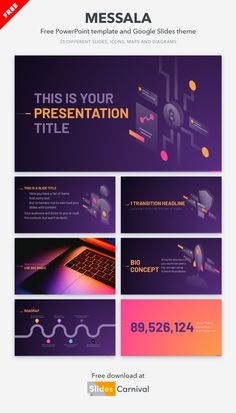 With this template you will give a professional touch to your presentations. With 20 illustrations of different concepts it is very versatile and can be used for any topic. Surprise your audience with your message dressed by a top notch design. Some Text, Your Message, 100 Free, Presentation Templates, Messages, Touch, Illustrations, Design, Cover Pages