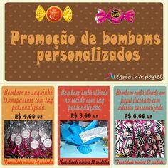 Promoção de Bombons personalizados
