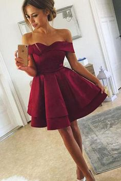 Cute Off Shoulder Layered Burgundy Short Prom Dresses, Layered Burgundy Homecoming Dresses Customized service and Rush order are available. Cute Off Shoulder Layered Burgundy Short Prom Dresses, Layered Burgundy Homecoming Dresses Burgundy Homecoming Dresses, Hoco Dresses, Dresses For Teens, Sexy Dresses, Cute Dresses, Evening Dresses, Party Dresses, Wedding Dresses, Bridesmaid Dresses