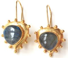 Vezoora Labradorite Earrings Vezoora Gemstone Earrings- Gemstone size, shape, color, texture may vary from image as we use only natural gemstone which are different from one another.