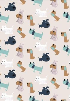 Dogs are no doubt man's best friends. Cool Patterns, Textures Patterns, Print Patterns, Dog Wallpaper, Pattern Wallpaper, Dog Pattern, Pattern Design, Dog Illustration, Pattern Illustrations