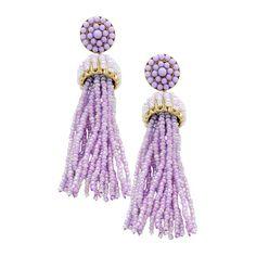 'Penelope' Beaded Tassels - Purple