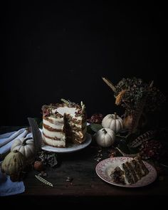 I posted this pumpkin ginger walnut and date cake today!