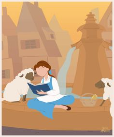 isney Princess Belle (Beauty and the Beast) GIF animation by Jeca Martinez