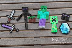 Minecraft hama bead inspiration.