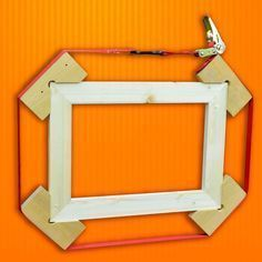 """Woodworking Tips and Tricks: 5 Hacks for Clamps When gluing up 90 degree corners, or whole picture frames, using a """"Tie-Down"""" that is long enough to wrap around the whole frame can work wonders. Using some 90 degree angle pieces, wrap the tie-down a Woodworking Joints, Learn Woodworking, Woodworking Techniques, Popular Woodworking, Woodworking Projects Diy, Woodworking Furniture, Diy Wood Projects, Wood Crafts, Woodworking Plans"""