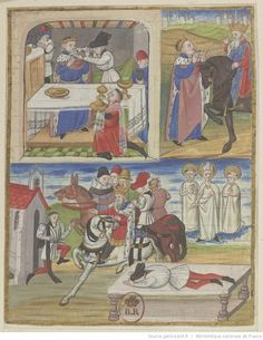 Histoire de Childebert II : enluminure / Maître de Marguerite d'Orléans
