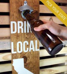 Custom State Wall-Mounted Wood Bottle Opener by Coffee Diem Dry Goods on Scoutmob Shoppe-Of course it would need to be Texas! Wood Crafts, Diy Crafts, Idee Diy, Man Room, Wood Projects, Craft Projects, Making Ideas, Wall Mount, Sweet Home