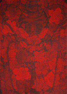 "Tokoha Matsuda. Under the Surface.  Her Pelvis  Etching, Aquatint 14"" x 10"" (20"" x 16""), 2009"