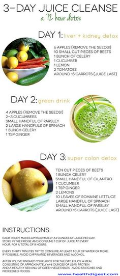 3 Day Juice Cleanser (a 72 hour detox) | Extreme Natural Health News