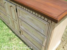How to paint, distress, stain and antique a piece of furniture.