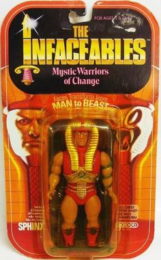 """Sphinx, a man who changes to a cobra, from Galoob's """"The Infaceables"""" toys"""