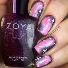 Pink and purple galaxies by @amkuch15