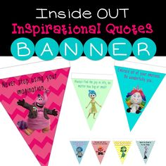 FREE printable banner with life lessons.