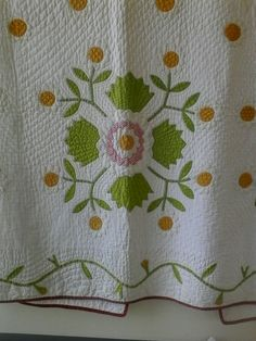 Rose of Sharon. Hand appliqued, great quilting.