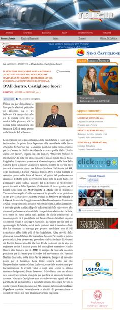 Consegnate le liste del Popolo della Libertà per le elezioni politiche 2013. Riconfermato in lista il Senatore Antonio d'Alì di Trapani.