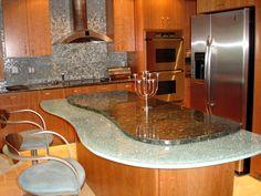 Beautiful Interior Kitchen Island Table Design - http://ipriz.com/beautiful-interior-kitchen-island-table-design/