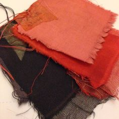 Hannah Lamb - Madder samples from workshop with Kirstie Williams