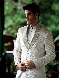Men New Fashion Designer Wedding Groom Indowestern Sherwani Suit Coat JacketPant