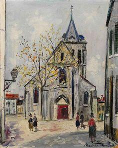 Maurice Utrillo, Eglise de banlieue, 1944