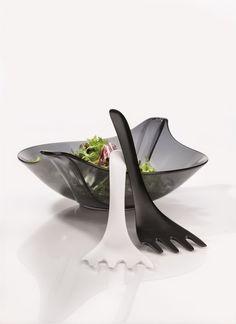 Makes salad serving more fun than eating! Koziol LEAF XL Salad Bowl w/Servers.