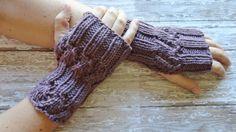 Soft Wool Fingerless Gloves in Beautiful Purple Winter Accessories Winter Gloves Womens Gloves