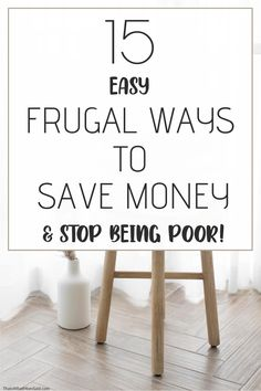 Frugal living on a budget is a great way to save money everyday. It's really easy to be frugal when you know where to save the most money. Check out my frugal tips to see how easy it is and where you can save money, too! Save money ideas | Money saving tips #frugalliving #frugal