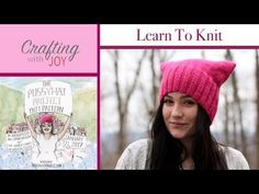 Learn step-by-step how to knit and purl while making the Pussy Hat Project to support women's rights at the Women's March on Washington D.C. on January 21, 2... and like OMG! get some yourself some pawtastic adorable cat shirts, cat socks, and other cat apparel by tapping the pin!