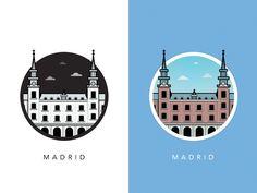 Illustration of Famous European Landmarks