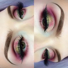 olive & raspberry || BROWS: @anastasiabeverlyhills 'Medium Brown' Dipbrow | RASPBERRIES: @anastasiabeverlyhills #ModernRenaissance Palette, 'Vermeer,' 'Buon Fresco' and 'Love Letter' with @maccosmetics 'Rose' Pigment | OLIVES: @makeupgeekcosmetics 'Take Two' (and for liner) with @lasplashcosmetics 'Rhea' for details | LASHES: @seduiressentials 'Marilyn' ✌️️there's more on my InstaStory
