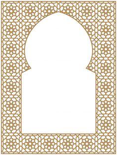 Cadre Rectangulaire Du Modèle Arabe De T. Islamic Art Pattern, Arabic Pattern, Islamic Calligraphy, Calligraphy Art, Vector Pattern, Pattern Art, Flower Background Wallpaper, Background Banner, Wall Stencil Patterns