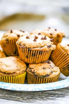 Peanut Butter Chocolate Chip Muffins - Loaded with peanut butter flavor and gooey morsels of chocolate chips throughout, these muffins are super moist and yummy delish! It's our favorite go-to easy baking peanut butter muffins for your breakfast and snacking delights for a delicious protein boost to your day!